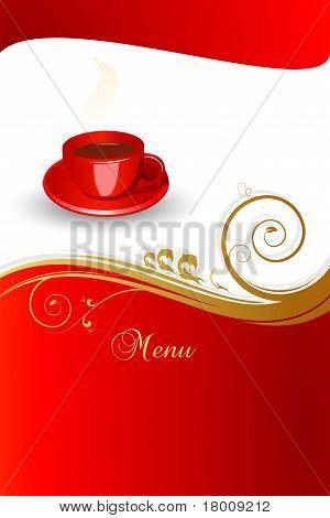 Concept of coffee menu.