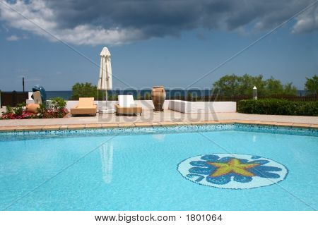 Swimming Pool With Sunshade