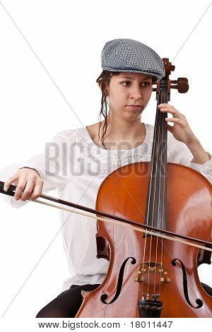 Girl Playing Cello