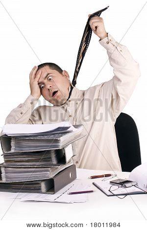 Man In A Office