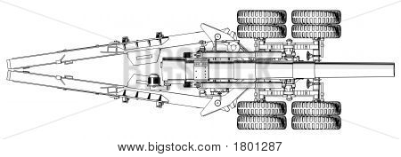 203Mm Howitzer - Top View