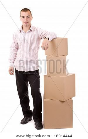 Man And Box