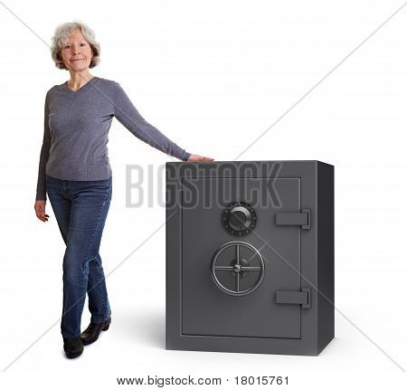 Elderly Woman With Vault