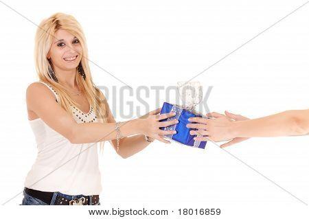 Woman Receiving Gift