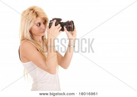 Blonde Woman Shooting Picture