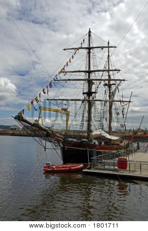 Sailing Ship In The Harbour