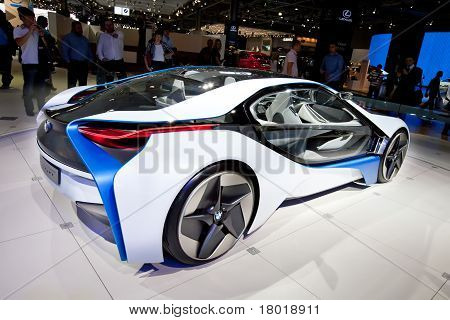 Moscow, Russia - August 25: White Car Bmw  Concept Vision  On Display At Moscow International Exhibi