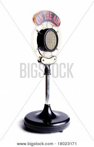 Photo Of Old Microphone Isolated On White
