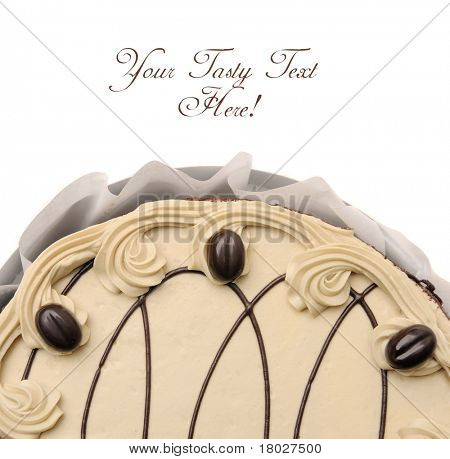 Beautiful whole cake with place for text.