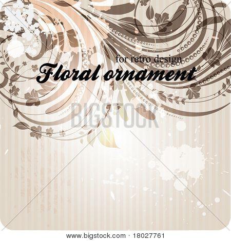 eps10 vector Grunge Vintage floral-design