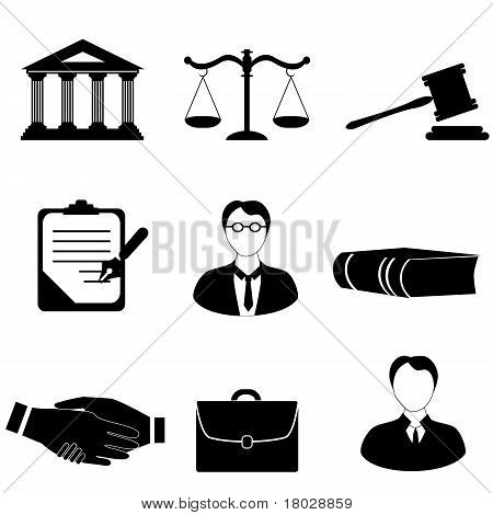 Justice, Legal And Law Icons
