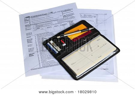 Checkbook Ready To Pay Income Tax