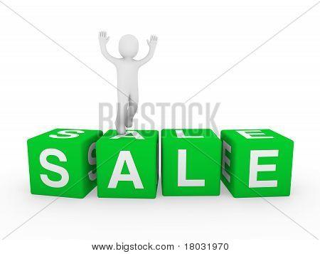 3D Human Sale Cube Jump