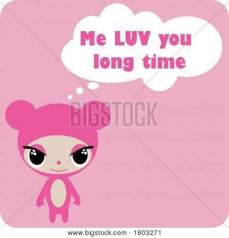 Pink Cartoon Animal2