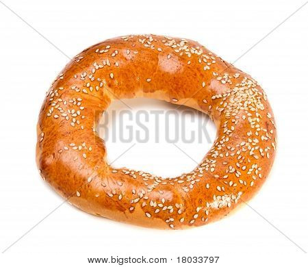 Doughnut-shaped Bun Bread Roll With Sesame