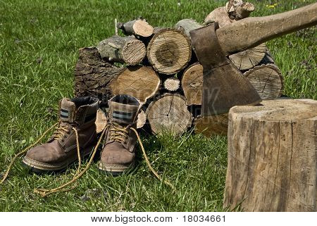 Logs And Old Shoes