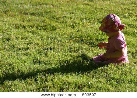 Baby Girl In Field