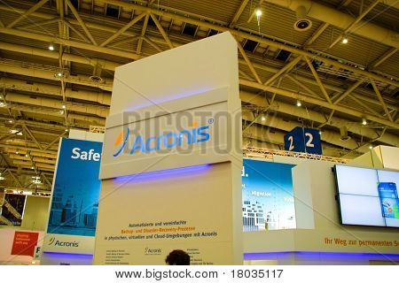 Hannover, Germany - March 5: Stand Of The Acronis On March 5, 2011 In Cebit Computer Expo, Hannover,