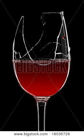 Cacos de vidro de vinho tinto