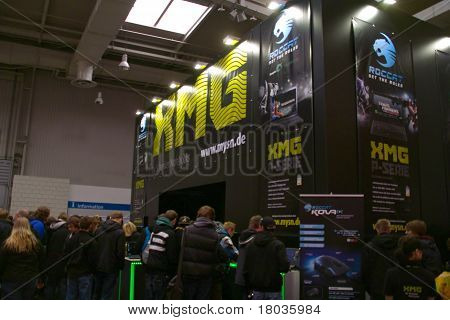 Hannover, Germany - March 5: Stand Of The Xmg On March 5, 2011 In Cebit Computer Expo, Hannover, Ger