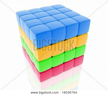 4 Layer Colored Cube