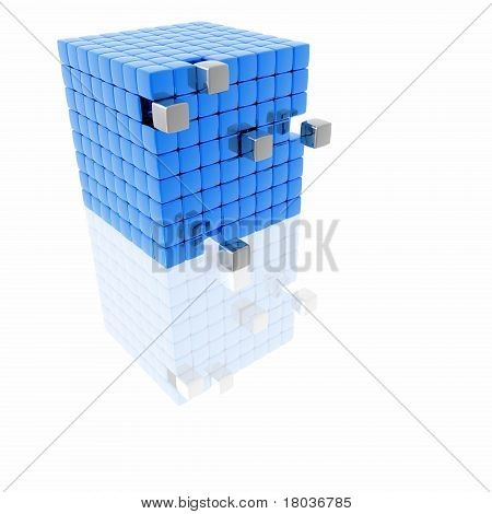 Cubes reconstruction