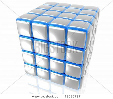 Organised cube structure