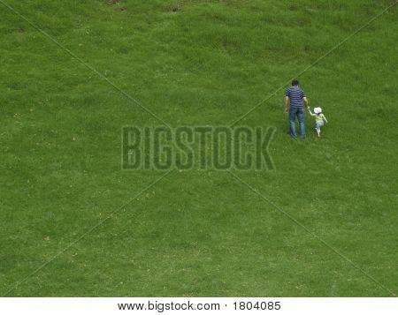 Walking On Grass