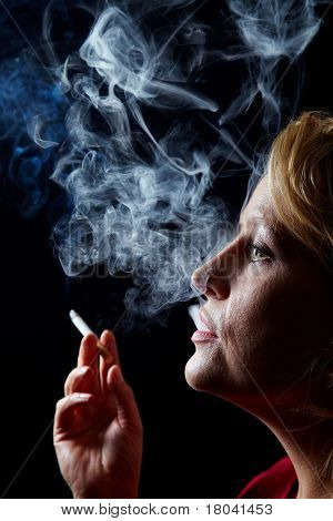Smoker With Cigarette