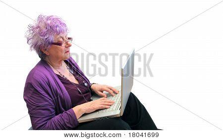 chatting grandma