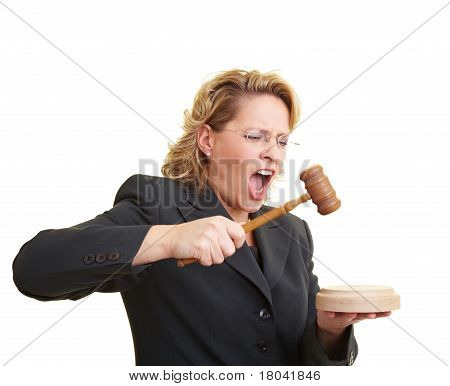 Judge Using Hammer