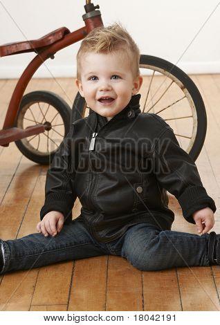 Toddler Boy Vintage Tricycle