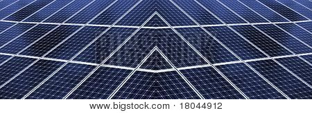 Close up of solar energy panel.