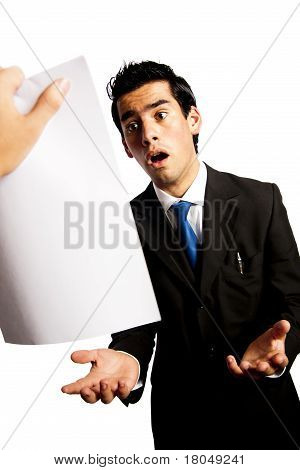 Young Businessman Is Getting Fired By His Boss