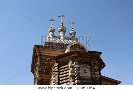 Building Of The Museum Of Wooden Architecture In Kolomenskoye (moscow)