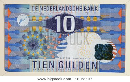 Obsolete 1997 Netherlands 10 Gulden