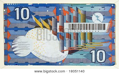 Obsolete 1997 Netherlands 10 Gulden, Back