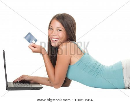 Shopping On Internet Woman