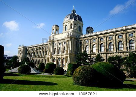 Natural history museum Vienna, Austria, taken on a beautiful sunny day.