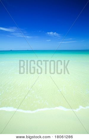 Beautiful calm beach with crystal blue waters of the Andaman sea, Krabi,Thailand.