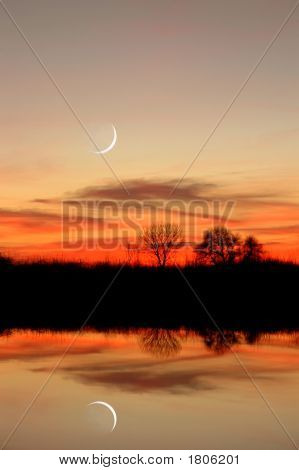 New Moon Reflection