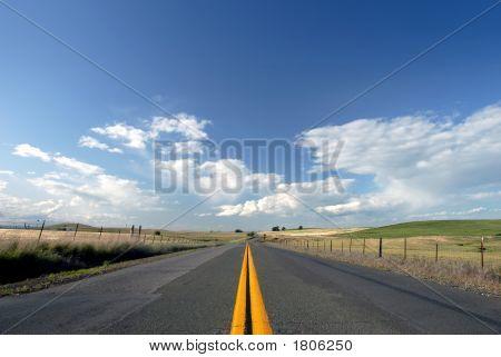 Rural Two Lane Road