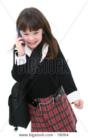 Angry Girl On Cellphone