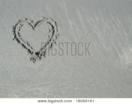Heart in Sand - upper left