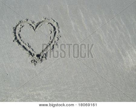 Heart in Sand - upper left