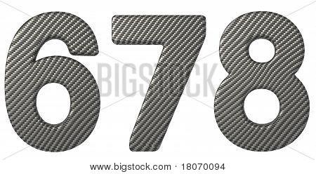 Carbon Fiber Font 6 7 8 Numerals