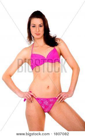 Bikini Girl In Pink