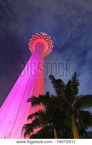 Menara tv tower at Kuala Lumpur (Malaysia)