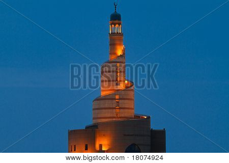 Spiral mosque in Doha