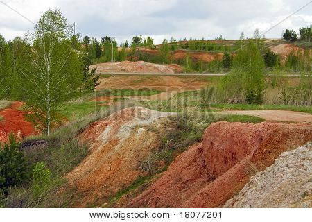Abandoned Deposit Of Refractory Clay